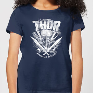 Marvel Thor Ragnarok Hammer Dames T-shirt - Navy