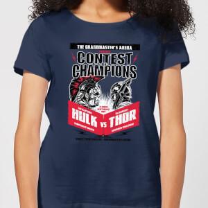 Marvel Thor Ragnarok Champions Poster Women's T-Shirt - Navy