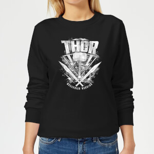 Sweat Femme Marvel - Thor Ragnarok - Logo du Marteau de Thor - Noir