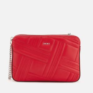 DKNY Women's Allen Medium Quilt Cross Body Bag - Rouge