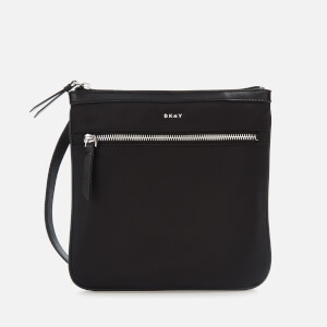 DKNY Women's Casey Zip Cross Body Bag - Black/Silver