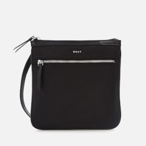 DKNY Women's Casey Zip Cross Body Bag - Black/Silver