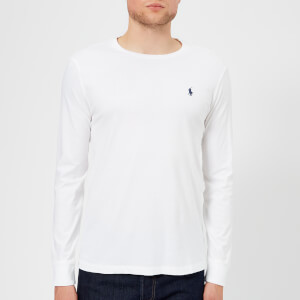 Polo Ralph Lauren Men's Long Sleeve Basic Cotton Top - White