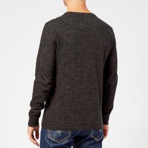 Polo Ralph Lauren Men's Basic Crew Neck Long Sleeve T-Shirt - Black Marl Heather: Image 2