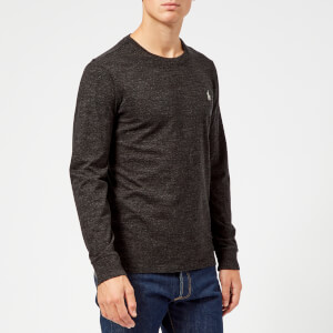 Polo Ralph Lauren Men's Basic Crew Neck Long Sleeve T-Shirt - Black Marl Heather