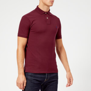 Polo Ralph Lauren Men's Slim Fit Short Sleeve Polo Shirt - Classic Wine