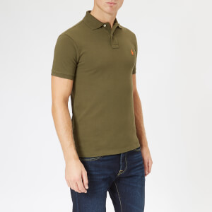 Polo Ralph Lauren Men's Slim Fit Short Sleeve Polo Shirt - Expedition Olive: Image 1