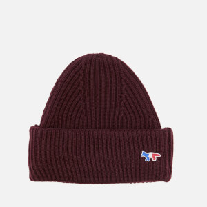 Maison Kitsuné Women's Ribbed Hat - Burgundy
