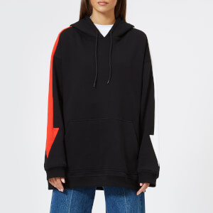 MSGM Women's Hoodie with Arrow Down the Side - Black