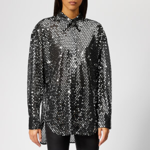 MSGM Women's Sequin Shirt - Silver