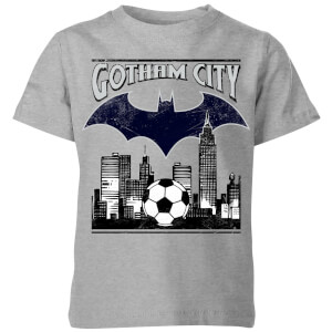 DC Comics Batman Fußball Gotham City Kinder T-Shirt - Grau