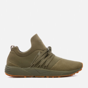 ARKK Copenhagen Men's Raven Nubuck Trainers - Dark Army Green