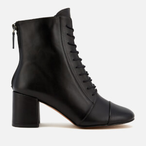 Whistles Women's Ruben Lace Up Block Heeled Boots - Black