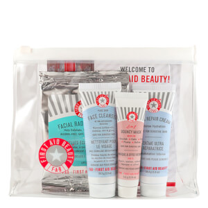 First Aid Beauty Gift (Includes Face Cleanser, Ultra Repair Cream, 5 in 1 Bouncy Mask & Facial Radiance Pads)