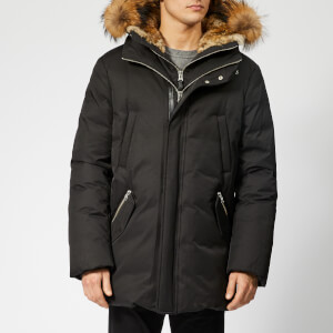 Mackage Men's Edward Fur Hood Down Jacket - Black Natural