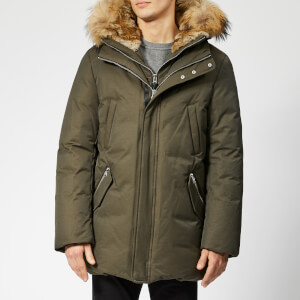 Mackage Men's Edward Fur Hood Down Jacket - Army Natural