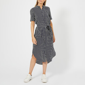 Whistles Women's Montana Longline Stripe Shirt Dress - Navy/Multi