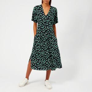 Whistles Women's Lenno Print Naya Button Dress - Green/Multi