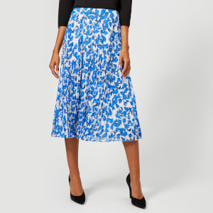 Whistles Women's Cordillia Print Pleated Skirt - White/Multi