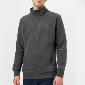 Joules Men's Oakhurst Funnel Neck Sweatshirt - Charcoal Marl