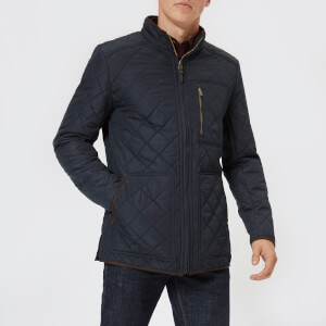 Joules Men's Derwent Quilted Jacket - Marine Navy