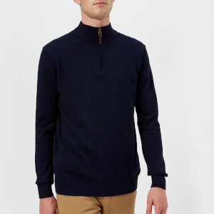 Joules Men's Hillside 1/4 Zip Knitted Jumper - French Navy