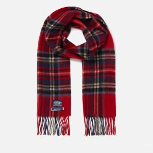 Joules Men's Tytherton Wool Scarf - Red Tartan