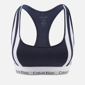 Calvin Klein Women's Varsity Stripe Unlined Bralette - Navy