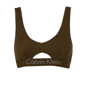 Calvin Klein Women's Logo Band Unlined Bralette - Khaki
