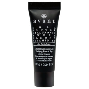 Avant Skincare Deluxe Hyaluronic Acid Vivifying Face and Eye Night Cream Travel Size 10ml