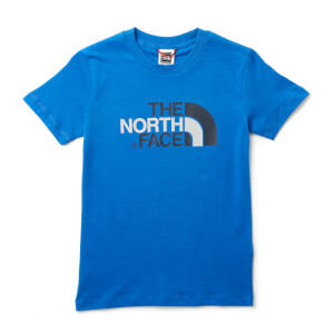 The North Face Boys' Youth Short Sleeve Easy T-Shirt - Turkish Sea/High Rise Grey