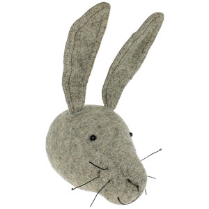 Fiona Walker England Grey Hare Wall Hanging Head