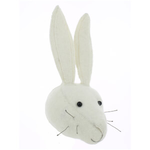 Fiona Walker England Mini White Rabbit Wall Hanging Head