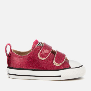 Converse Toddlers' Chuck Taylor All Star 2V Ox Trainers - Pink Pop/Natural/White