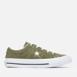 Converse Kids' One Star Ox Trainers - Field Surplus/White