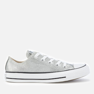 Converse Women's Chuck Taylor All Star Ox Trainers - Silver/Silver/White