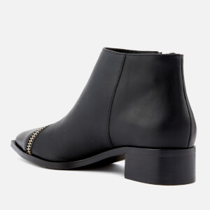 Senso Women's Lincoln Leather Zip Detail Ankle Boots - Black/Silver: Image 2