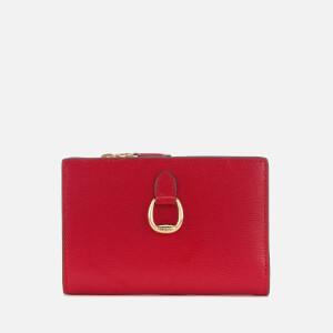 Lauren Ralph Lauren Women's Bennington New Compact Wallet - Red