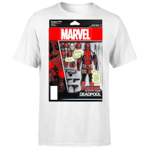 T-Shirt Homme Figurine Deadpool Marvel - Blanc