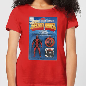 T-Shirt Marvel Deadpool Secret Wars Action Figure - Rosso - Donna