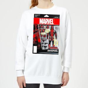 Marvel Deadpool Action Figure Women's Sweatshirt - White