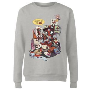 Marvel Deadpool Merchandise Royalties Women's Sweatshirt - Grey