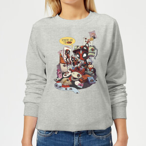 Marvel Deadpool Merchandise Royalties Women's Sweatshirt - Grey