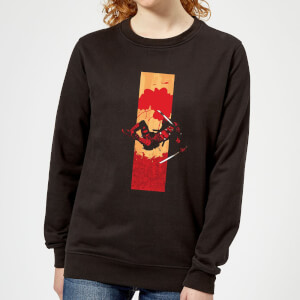 Marvel Deadpool Blood Strip Women's Sweatshirt - Black