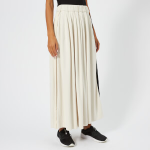 Y-3 Women's 3 Stripe Selvedge Matt Track Skirt - Champaign/Black