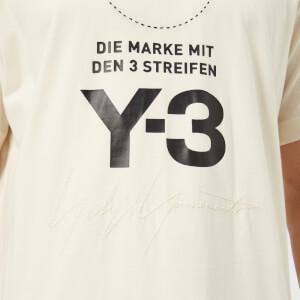 Y-3 Men's Stacked Logo Short Sleeve T-Shirt - Champagne/Black: Image 4