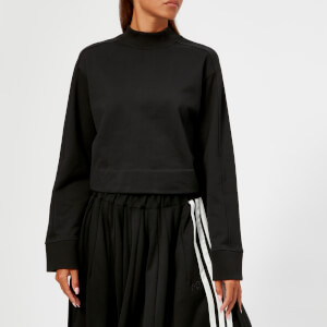 Y-3 Women's Stacked Logo High Neck Sweatshirt - Black