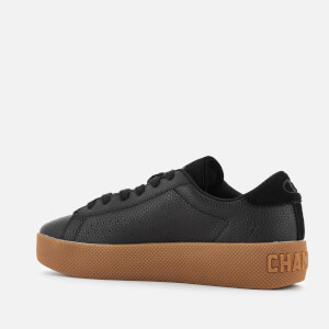 Champion Women's Era Leather Trainers - Black/Gum: Image 2