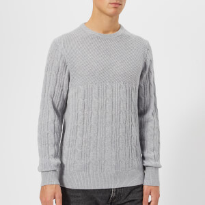 Tommy Hilfiger Men's Mixed Cable Knit Jumper - Quicksilver Heather