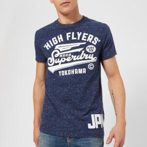 Superdry Men's High Flyers Reworked T-Shirt - Midnight Blue Snowy